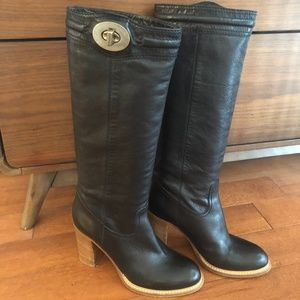 Rare - Coach Vintage soft leather tall black boots